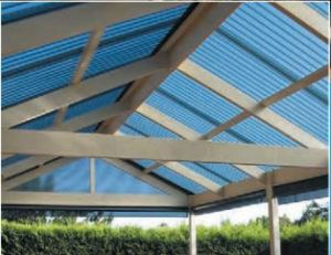 Polycarbonate roofing installation by Oakley Roofing